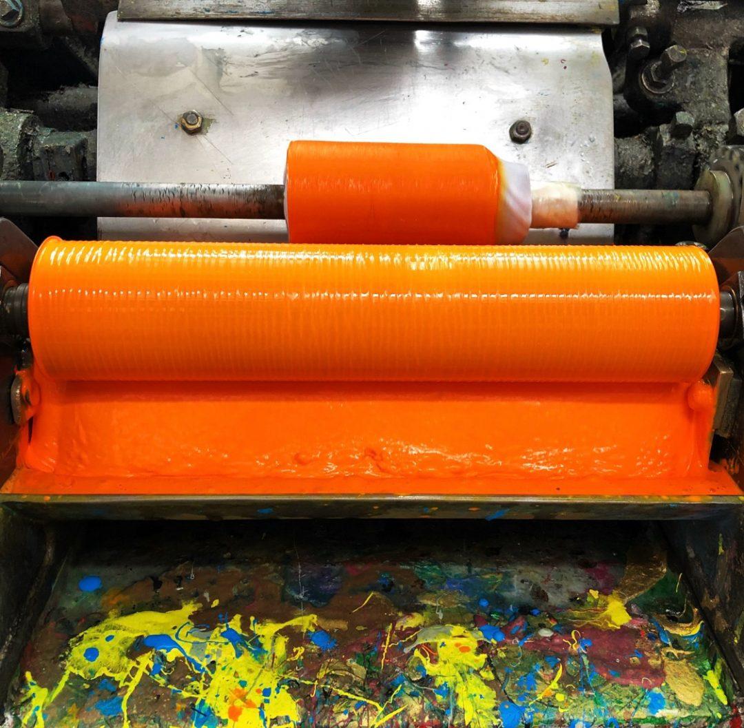 Downey die stamping ink roller