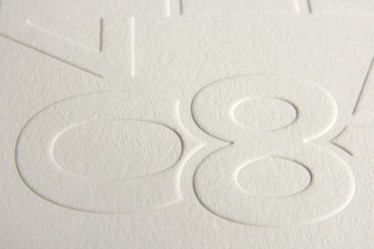 Embossed annual report
