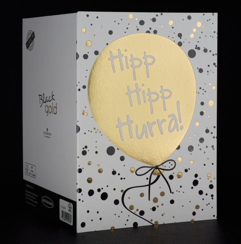 Flat foil greeting card