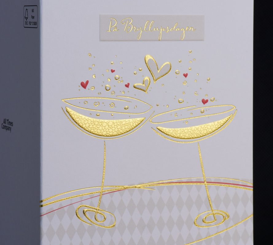 Embossed and textured foil greeting card