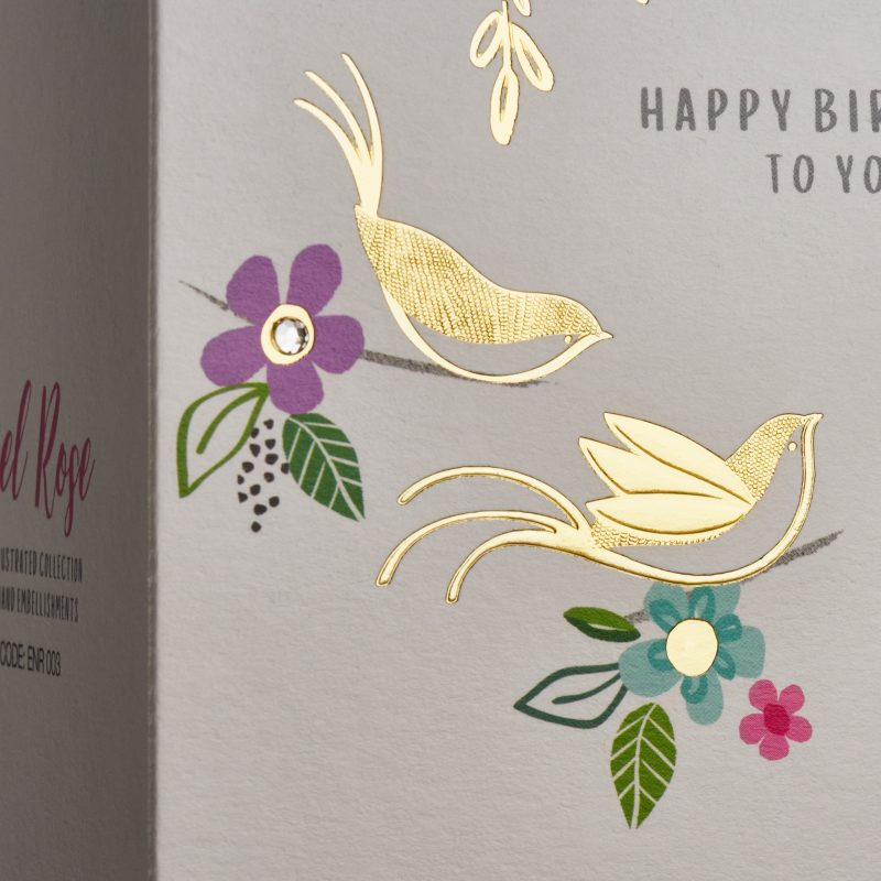 Textured, Embossed and Foiled Greeting Card