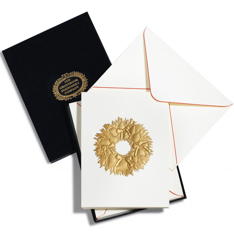 The Grosvenor Stationery Company, die stamp and multi-level emboss