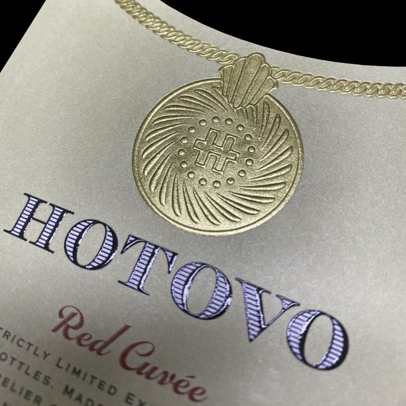 Hotovo wine label