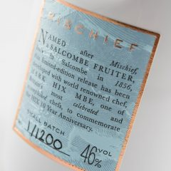 Gin bottle label with textured foil