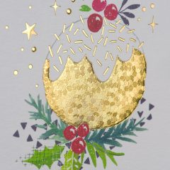 Flat and textured foil greeting card