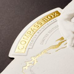 Foiled Multilevel Embossed Whisky Label