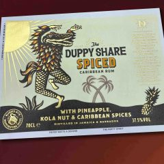The Duppy Share Rum label