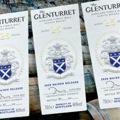 Glenturret 25 year old Whisky labels