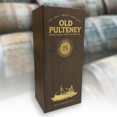 Old Pulteney foiled and embossed box